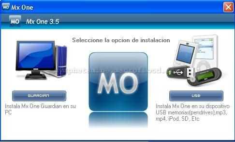 Pantalla 2 instalador mxone