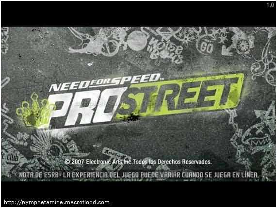 Pantalla inicio Need for speed pro street