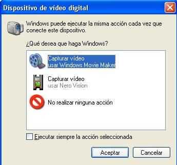 Conexion camara DV
