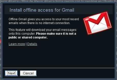 Asistente Gmail offline