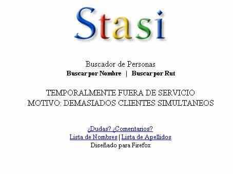 STASI - Tus datos personales en Internet