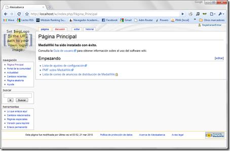Instalacion Mediawiki terminada