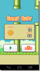 Flappy Bird medalla bronce
