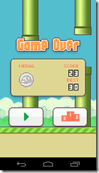 Flappy Bird Medalla plata